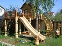 Детский комплекс с резьбой